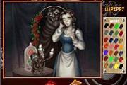 Princess Belle Online Coloring